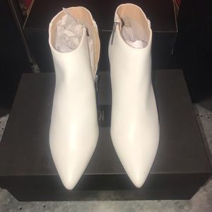 New day white booties
